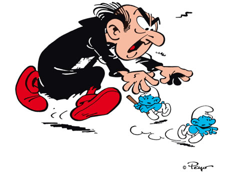 If you stop Gargamel just might get you, so you have to keep on going!