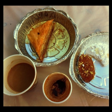 No One does Coffee like we Greeks! Boil it up old fashioned style on the stove top in a ibriki... Add in the Baklava & cookies and you're Golden!