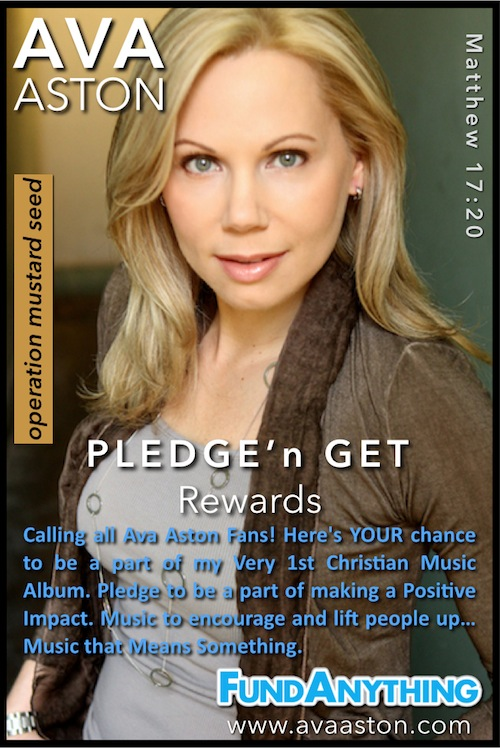 "Pledge & Get Rewards for helping me make my 1st ""Faith-Based CD""!"