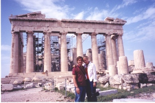 In Greece at The Acropolis visiting my dad.