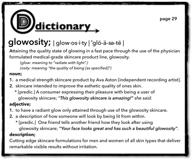 "Dictionary Definition of ""Glowosity"""